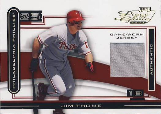 2003 Playoff Piece of the Game #48A Jim Thome Jsy
