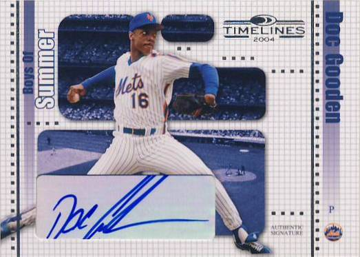 2004 Donruss Timelines Boys of Summer Autograph #11 Doc Gooden