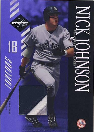 2003 Leaf Limited Threads #85 Nick Johnson A/25