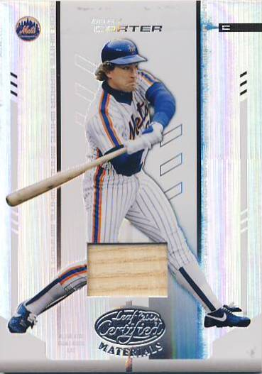 2004 Leaf Certified Materials Mirror Bat White #212 Gary Carter LGD/100