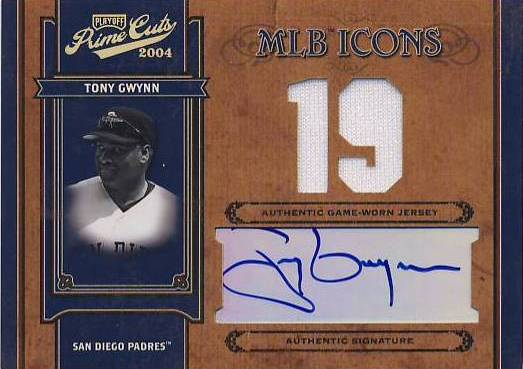 2004 Prime Cuts II MLB Icons Signature Century Gold #MLB88 Tony Gwynn White/19