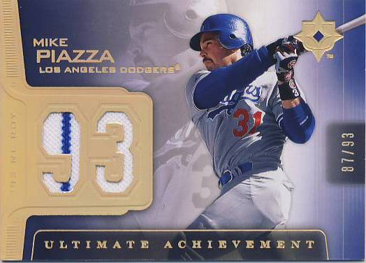 2004 Ultimate Collection Achievement Materials #MP Mike Piazza Jsy/93