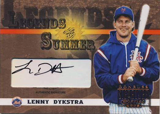 2003 Donruss Signature Legends of Summer Autographs #27 Lenny Dykstra