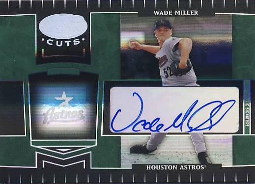 2004 Leaf Certified Cuts Marble Signature Emerald #92 Wade Miller/5
