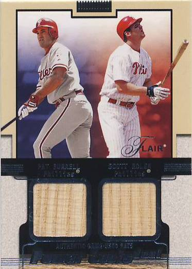 2002 Flair Power Tools Dual Bats #8 Pat Burrell/Scott Rolen