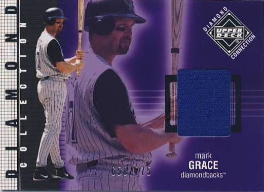 2002 Upper Deck Diamond Connection #221 Mark Grace DC Jsy