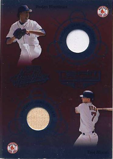 2002 Absolute Memorabilia Team Tandems Materials #TT6 Pedro Martinez Jsy/Trot Nixon Bat SP/200 *