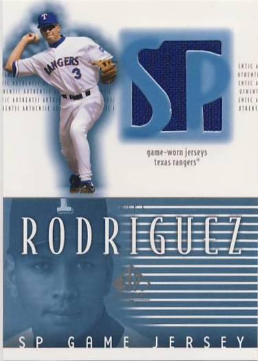2002 SP Authentic Game Jersey #JAR Alex Rodriguez