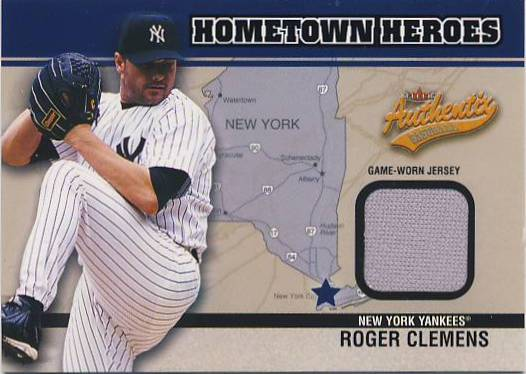 2003 Fleer Authentix Hometown Heroes Memorabilia #RC Roger Clemens Jsy