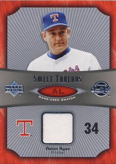 2005 Sweet Spot Sweet Threads #STNR Nolan Ryan