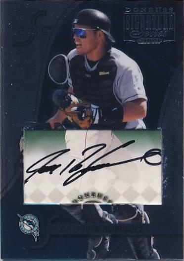 2003 Donruss Signature Cuts #33 Ivan Rodriguez/122
