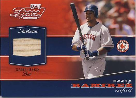 2002 Playoff Piece of the Game Materials Silver #54 Manny Ramirez Bat