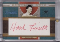 2009-10 Timeless Treasures Souvenir Cuts #8 Hank Luisetti/15