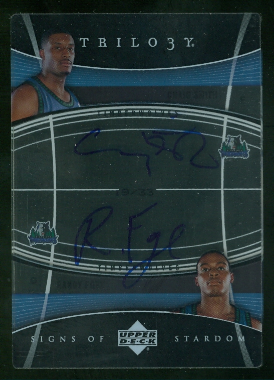2006-07 Upper Deck Trilogy Signs of Stardom Dual #SOSSF Craig Smith/Randy Foye