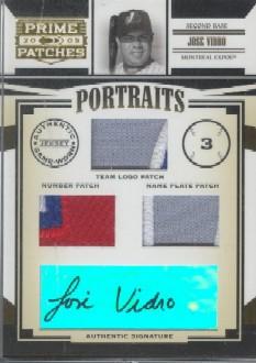 2005 Prime Patches Portraits Autograph Quad Patch #57 Jose Vidro/5