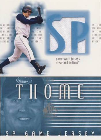 2002 SP Authentic Game Jersey #JJT Jim Thome