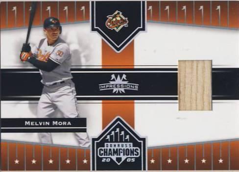 2005 Donruss Champions Impressions Material #72 Melvin Mora Bat T5