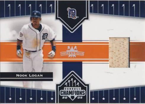 2005 Donruss Champions Impressions Material #73 Nook Logan Bat T5