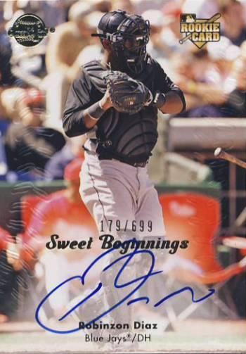2008 Sweet Spot #146 Robinzon Diaz AU/699 (RC)