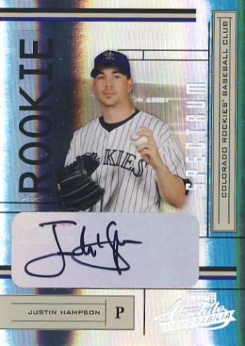 2004 Absolute Memorabilia Signature Spectrum Silver #219 Justin Hampson/250