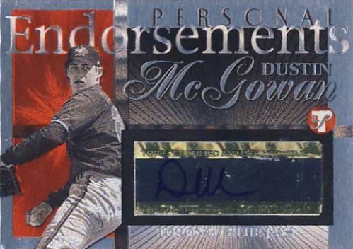 2004 Topps Pristine Personal Endorsements #DM Dustin McGowan C