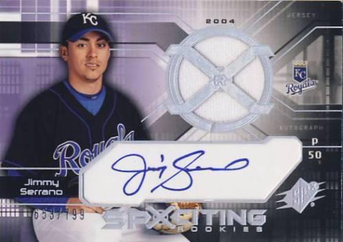 2004 SPx #162 Jimmy Serrano AU JSY RC