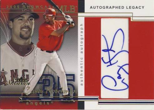 2005 Fleer Showcase Autographed Legacy #103 Casey Kotchman ST/454