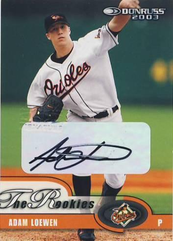 2003 Donruss Rookies Autographs #2 Adam Loewen/500