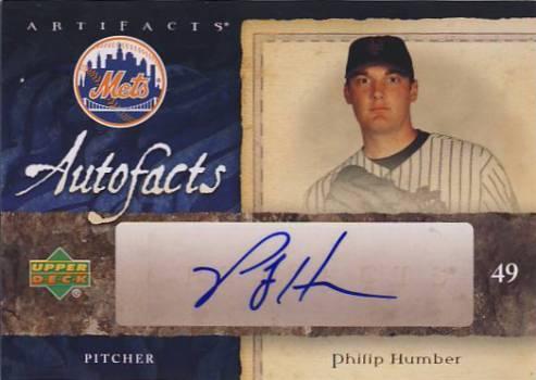 2007 Artifacts Autofacts #PH Philip Humber