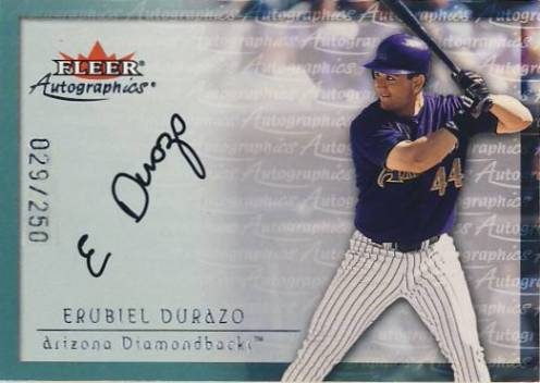 2001 Fleer Autographics Silver #28 Erubiel Durazo