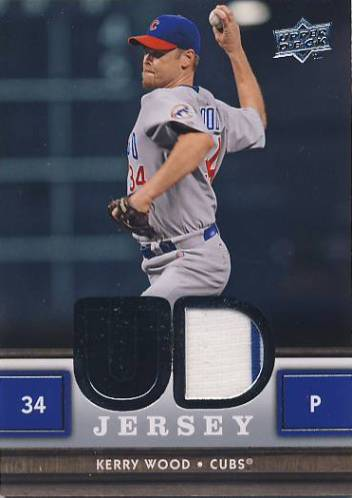 2008 Upper Deck UD Game Materials #KW Kerry Wood S2