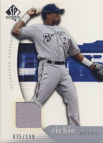 2005 SP Authentic Jersey #81 Rickie Weeks