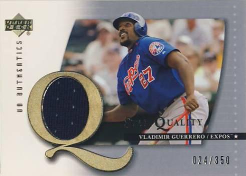 2003 UD Authentics Star Quality Memorabilia #VG Vladimir Guerrero PT Jsy