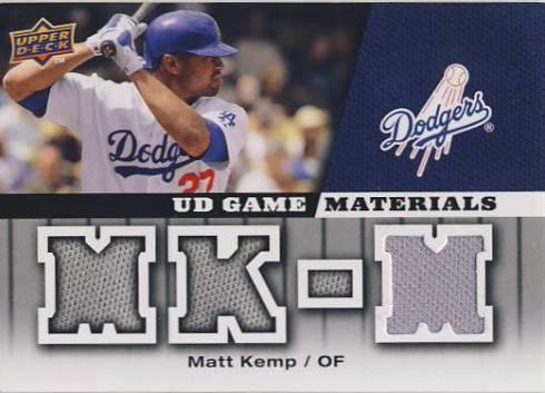 2009 Upper Deck UD Game Materials #GMMK Matt Kemp