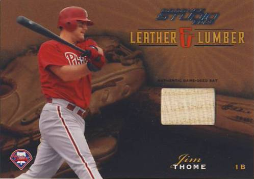 2003 Studio Leather and Lumber #21 Jim Thome Bat/400