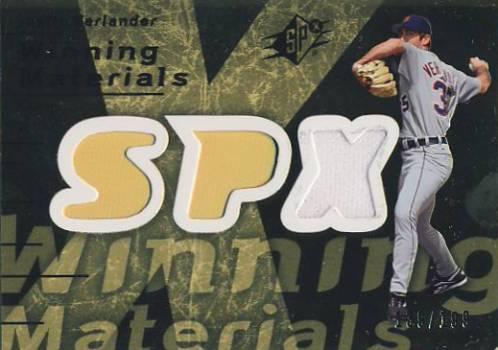 2007 SPx Winning Materials 199 Gold #JV Justin Verlander/199