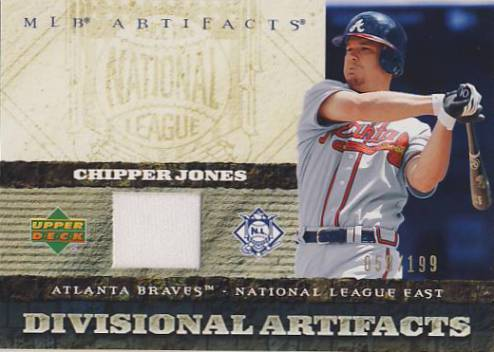 2007 Artifacts Divisional Artifacts #CJ Chipper Jones