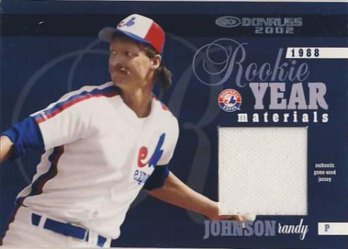 2002 Donruss Rookie Year Materials Jersey #2 Randy Johnson