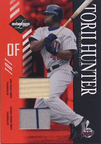 2003 Leaf Limited TNT #113 T.Hunter Crouch Bat-Jsy