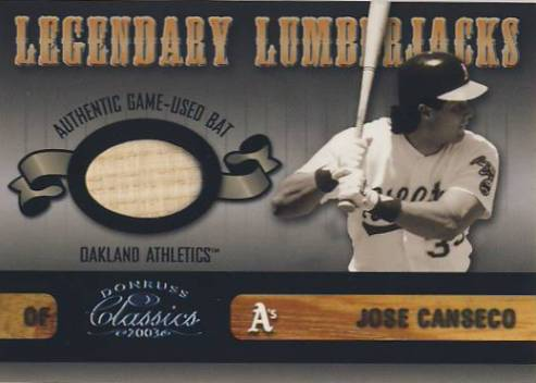 2003 Donruss Classics Legendary Lumberjacks #14 Jose Canseco/400