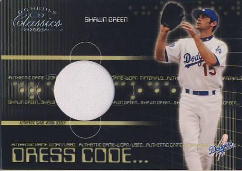 2003 Donruss Classics Dress Code #40 Shawn Green Jsy/425