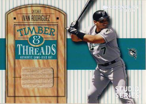 2004 Donruss Timber and Threads Studio Series #25 Ivan Rodriguez Bat