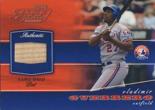 2002 Playoff Piece of the Game Materials Bronze #90 Vladimir Guerrero Bat