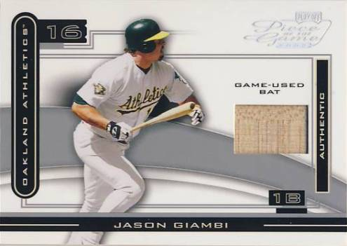 2003 Playoff Piece of the Game Silver #42 Jason Giambi A's Bat