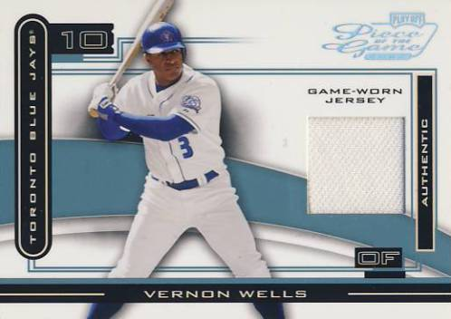 2003 Playoff Piece of the Game Platinum #99 Vernon Wells Jsy