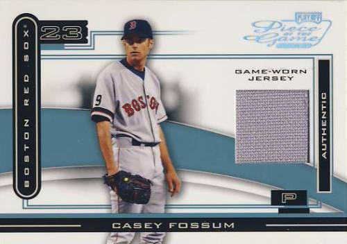 2003 Playoff Piece of the Game Platinum #23 Casey Fossum Jsy