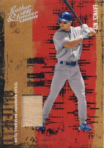 2005 Leather and Lumber Materials Bat #87 Laynce Nix/250