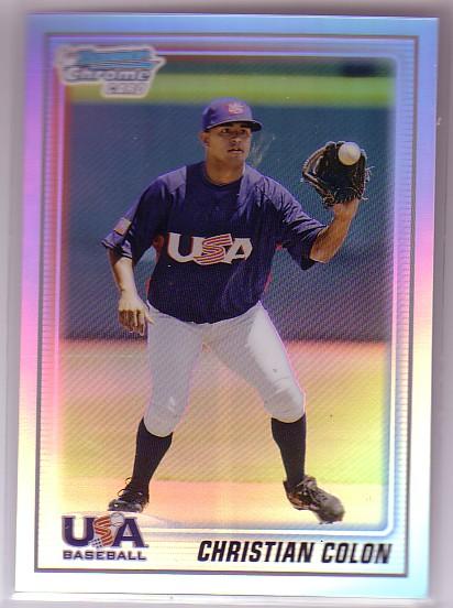 2010 Bowman Chrome USA Baseball Refractors #BC6 Christian Colon