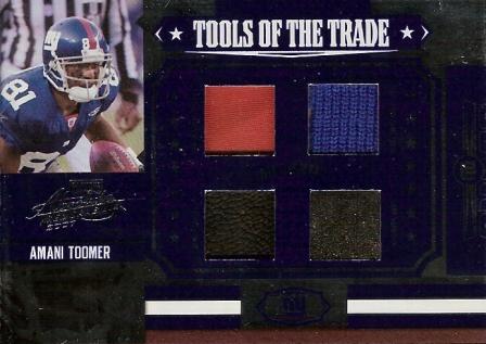 2007 Absolute Memorabilia Tools of the Trade Material Quad Blue #6 Amani Toomer