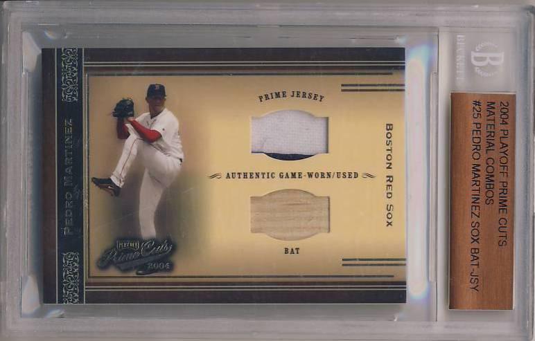 2004 Prime Cuts Material Combos #25 Pedro Martinez Sox Bat-Jsy